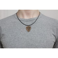 NeckPick PU chain with wooden pendant