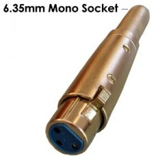 Connector addapter mono socket 6,3mm to 3pin female XLR