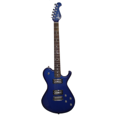 Sever el. guitar LP model sparkling blue CR