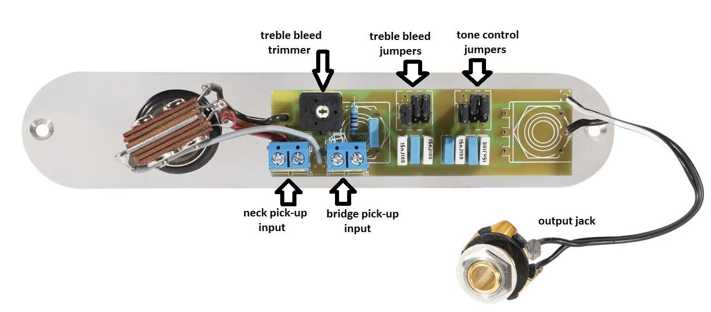 Pot Set Tele Toggle Sw Vtb T Socket Control Plate Satin Passive Tone Circuit Adding Jumper Switches On Position Results In Capacitance The Paralel Treble Bleed
