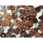 EarPick earrings with wooden pendant