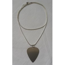 NeckPick silvered necklace stainless steel pendant