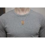 NeckPick silvered necklace wooden pick