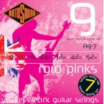 Rotosound electric strings 9-52 R9-7strunski Pink