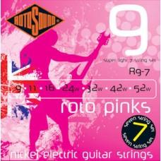 Rotosound electric strings 9-52 R9-7strunski Pink