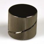 Sever pot knob BK flat_I_knurled Spiral