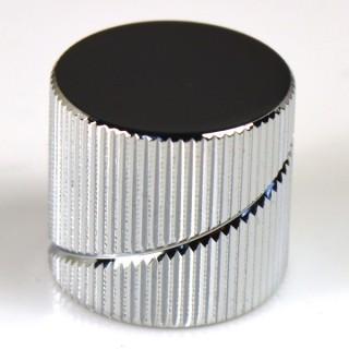 Sever pot knob CR flat_I_knurled spiral