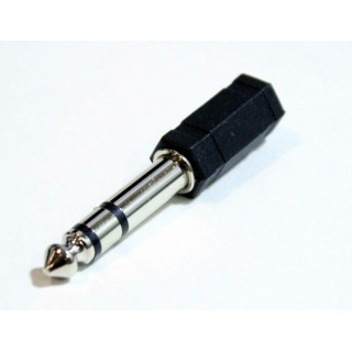 Connector adapter jack 3,5mm mono jack 6,3mm