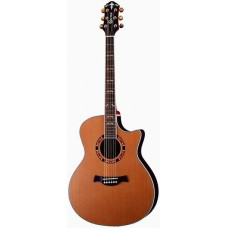 Folk guitar 6-string Dreadnought el. venetian cutaway